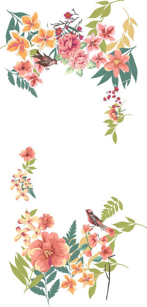 Vektor Tegak: Bingkai Bunga Vektor Undangan Png