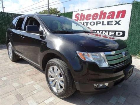 purchase   ford edge limited  owner nav black