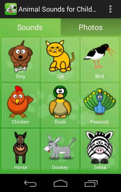 animal sounds  children android apps  google play
