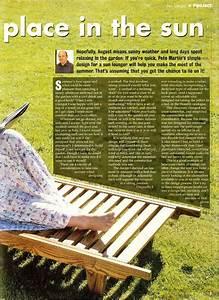 Sun Lounger Plans • WoodArchivist