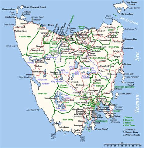 tasmania map pictures map  australia region political