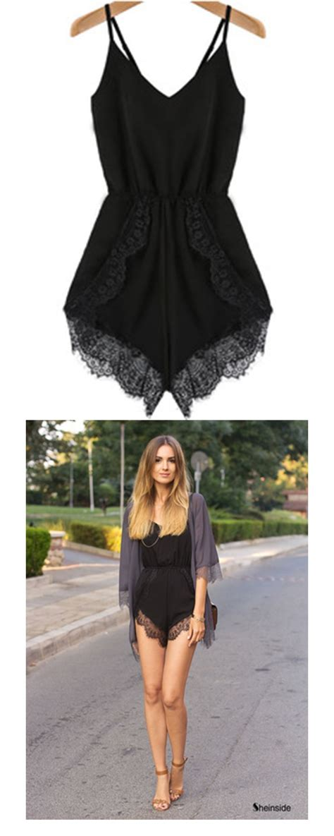 Black Jumpsuit Shorts - Breeze Clothing