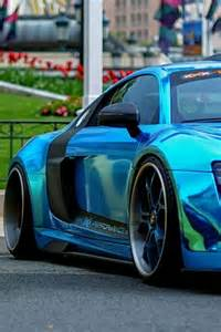 Audi R8 Chrome Blue Paint