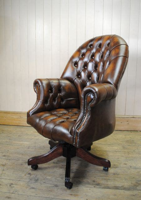 fauteuil bureau chesterfield chaise de bureau chesterfield