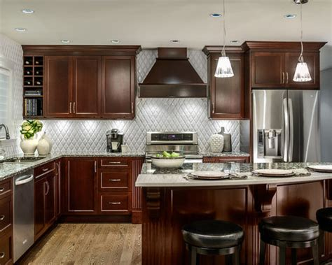 I do not like my current floors, they look orange. Cherry Cabinets Kitchen | Houzz