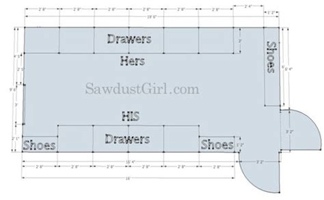 Walk In Closet Measurements by How To Plan And Design A Walk In Closet Sawdust 174