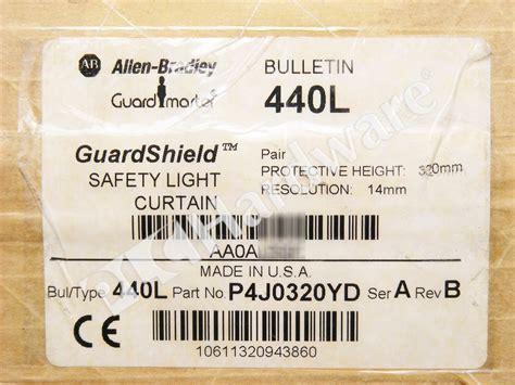 plc hardware allen bradley 440l p4j0320yd guardshield