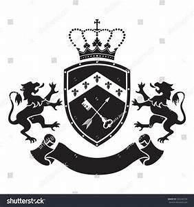 Coat Arms Shield Crown Key Arrow Stock Vector 332246729 ...