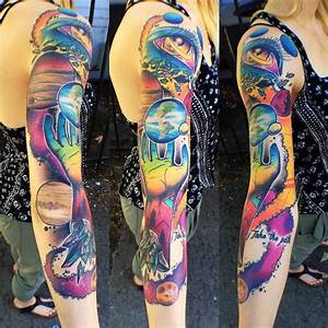 Girls Space Sleeve | Best tattoo ideas & designs