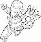 Iron Fighting Coloring Pages Printable Flying Cartoon Avengers Heroes Super Categories A4 Marvel sketch template