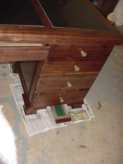 walnut desk with granite top woodworking