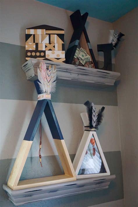 pin  teepee shadow box shelves