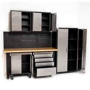 7, Piece, Standard, Garage, Storage, System, Timber, Buy, Workbench, Overhead, Hanging, Wall, Cabinet, Australia
