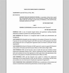 sales executive employment contract sample contracts With ceo employment contract template
