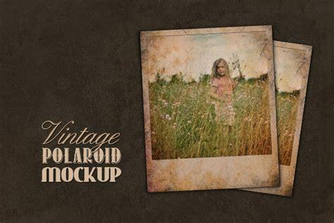 vintage polaroid mockup medialoot