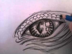how to draw dragons eye - YouTube