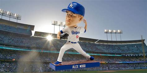 alex wood bobblehead night  dodger stadium