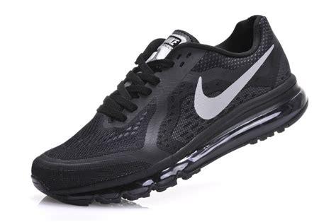 2015 Nike Air Max 2014 Mens Black Silver Trainers Sale