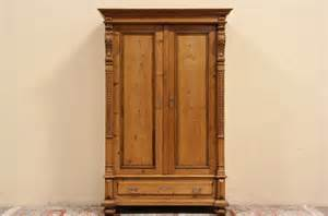Pine Closet by Country Pine 1870 Austrian Carved Armoire Wardrobe Or