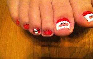 DIY Santa Clause Toe Nail Design For Christmas - Crafty ...