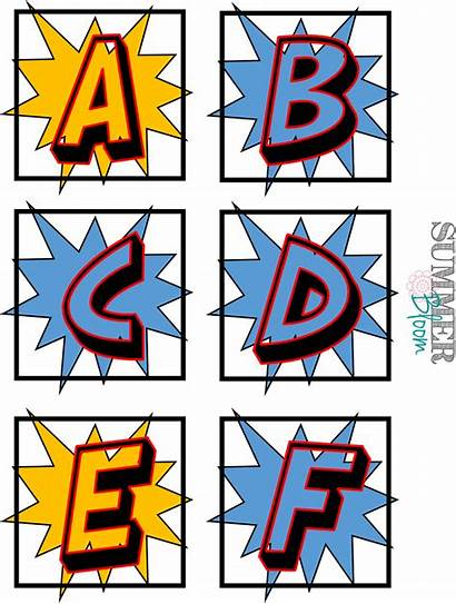 Superhero Font Alphabet Letters Word Wall Clipart
