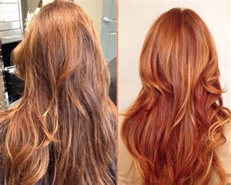 Red Hair With Copper Highlights