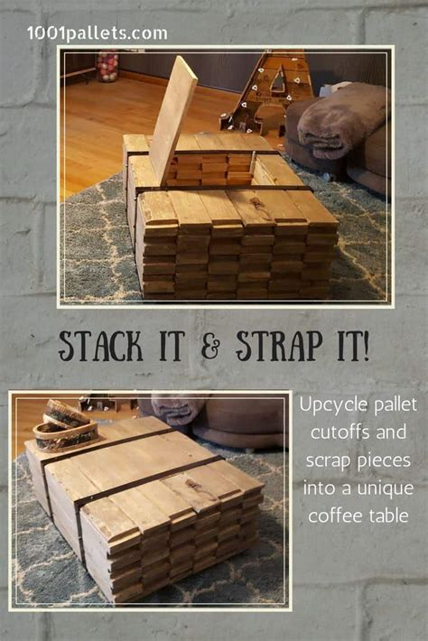 stacked wood coffee table  pallets