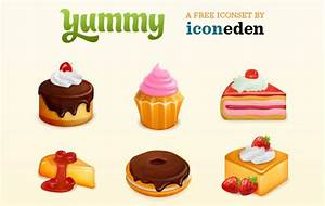Yummy! Free Food and Cakes Icon Set | Free Icons Download ...