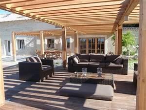 terrasse avec pergolas bois myqtocom With terrasse avec pergolas bois