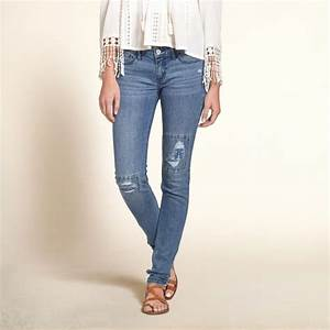 Girls Hollister Super Skinny Jeans | Rich color with fading and whiskering through thighs hand ...