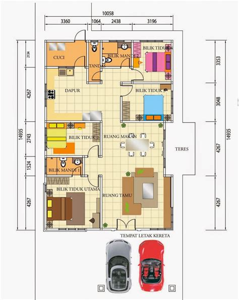plan rumah setingkat desainrumahidcom