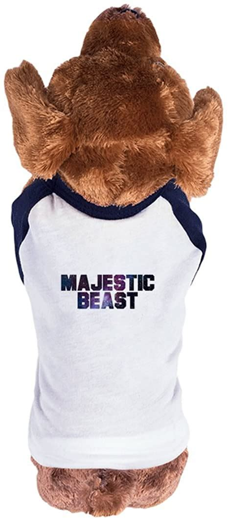 Amazon.com: Skreened Majestic Beast Dog Tee | L White/Navy ...
