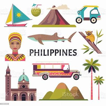 Philippines Vector Icons Philippine Culture Jeepney Illustrations
