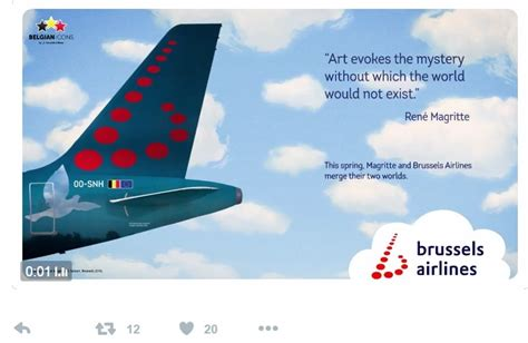brussels airlines r ervation si e brussels airlines to honour artist magritte the bulletin