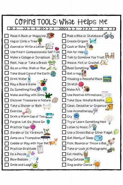Coping Skills Worksheets Self Activities Tools Posters
