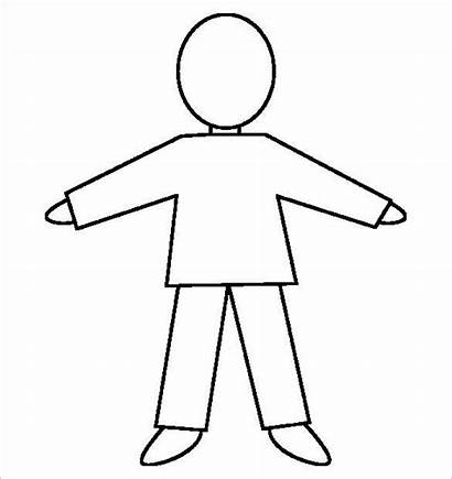 Human Outline Template Templates Printable Drawing Person