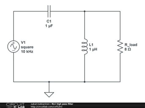 Rlc High Pass Filter Circuitlab