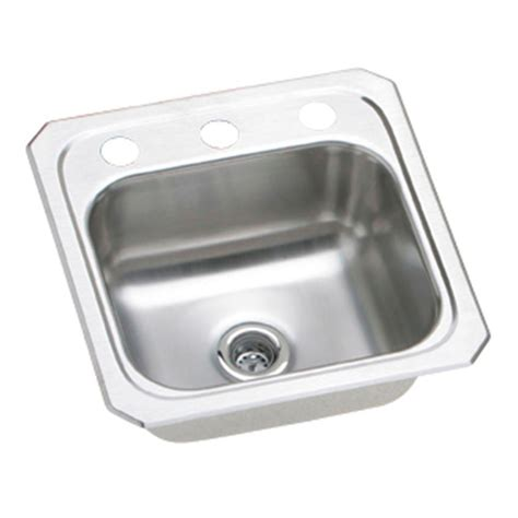 Home Depot Drop In Bar Sink by Elkay Drop In Stainless Steel 15 In 2 Bar