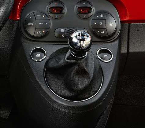 Fiat Gear by Leather Gear Shift Gaiter Cover Sleeve Fit Fiat 500 2007