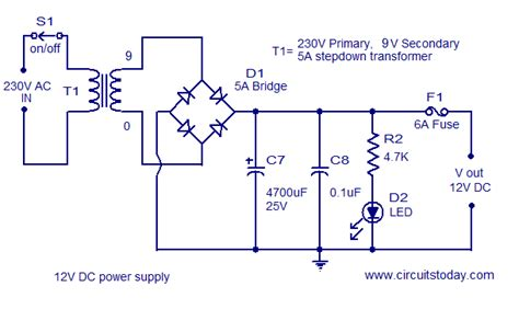 Circuit Diagram For 12 Volt Dc Power Supply
