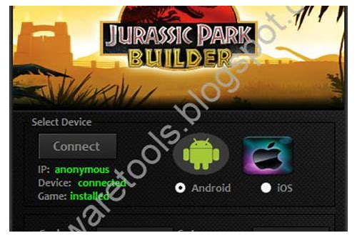 jurassic park builder cheat hack herunterladen no survey
