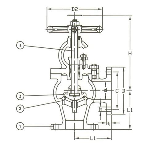Angle Valve Diagram by F7320 10k Cast Steel Angle Valve On World Wide Metric Inc