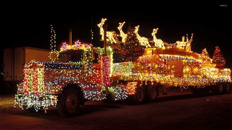 semi truck christmas ornaments truck with christmas lights wallpaper holiday wallpapers