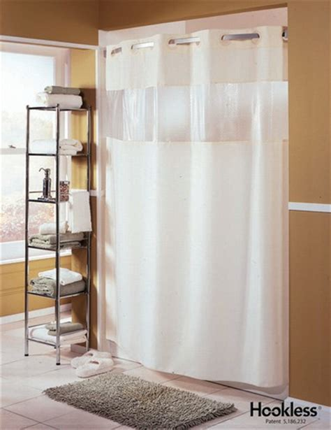 wyndham hotel hookless 174 white shower curtain fabric