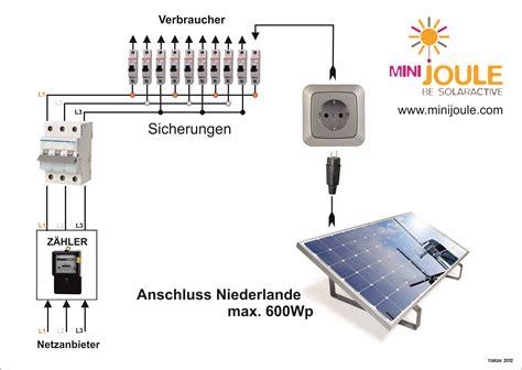 minijoule solaranlage selber bauen und anschliessen mit