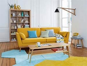 Décoration Salon Jaune Moutarde : 19 id es d co de canap jaune ~ Melissatoandfro.com Idées de Décoration