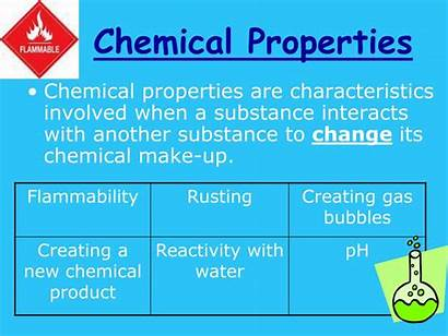 Chemical Properties Physical Characteristics Change Substance Ppt
