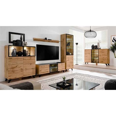 Meuble Tv Home Design by Meuble Tv Design Led Quot Thin Quot 150cm Noir Naturel