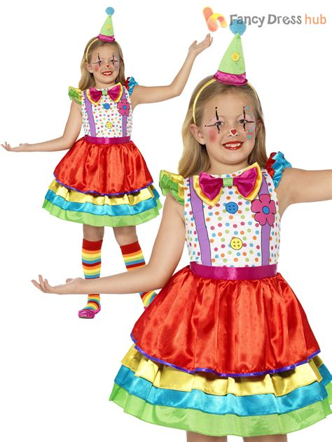 Girls Clown Costume Deluxe Circus Carnival Child Kids Fancy Dress Outfit Book | eBay