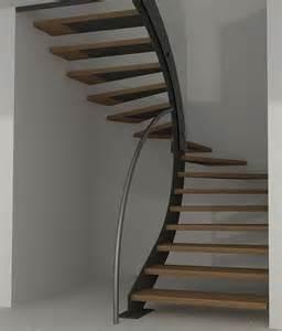 Escalier Tournant Bois by Escalier Demi Tournant Suspendu En Bois Id 233 Es D 201 Co
